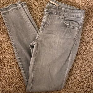 Vince Grey Waxed Cropped Skinny Jeans  size 29